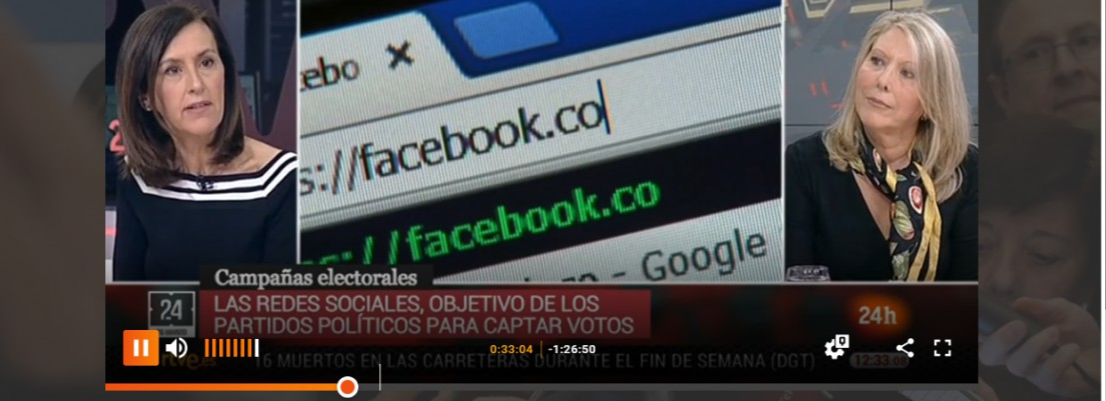 Prof. Nora Lado on TVE (24h) discusses about political marketing on social networks