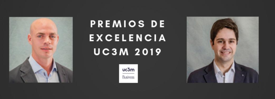 """Los profesores Kurt Desender and David Martinez Miera galardonados con el  """"Premio de Excelencia UC3M"""""""
