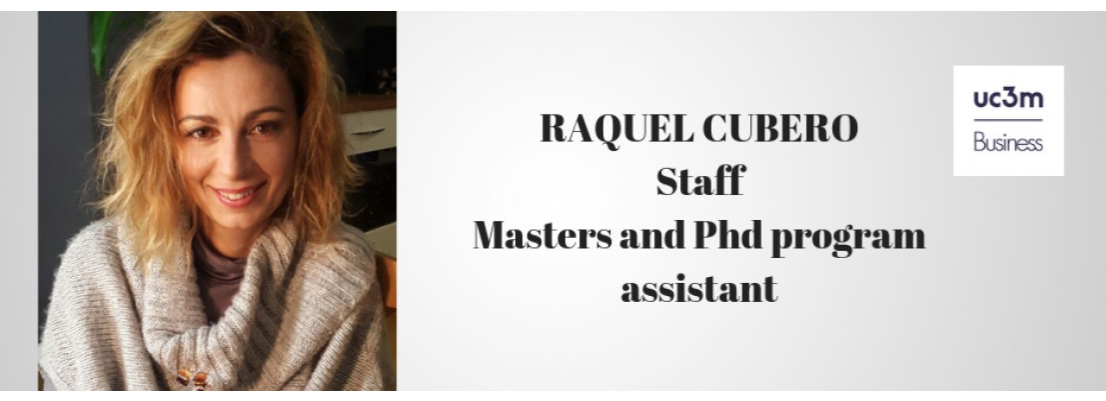 Welcome to Raquel Cubero, new member of the staff at UC3M Business