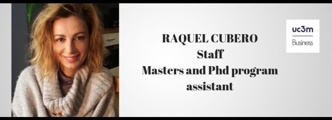 Bienvenida Raquel Cubero, nueva PAS del equipo de UC3M Business